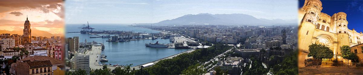 Mural con imágenes de Málaga