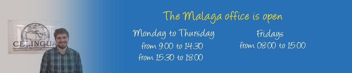 cblingua malaga open hours